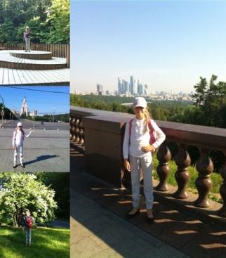На фото я в Москве.