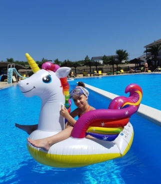 Я отдыхала на Азовском Море.В отеле Тиздар!На этом фото я и единорог?