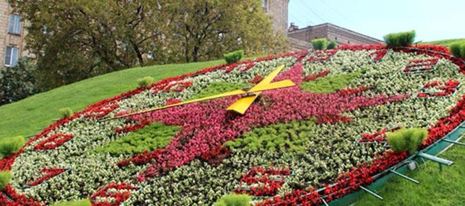Поклонную гору украсят огромные цветочные часы