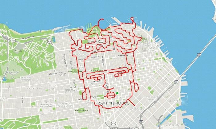 Бегун из Сан-Франциско превращает свои пробежки в произведения искусства