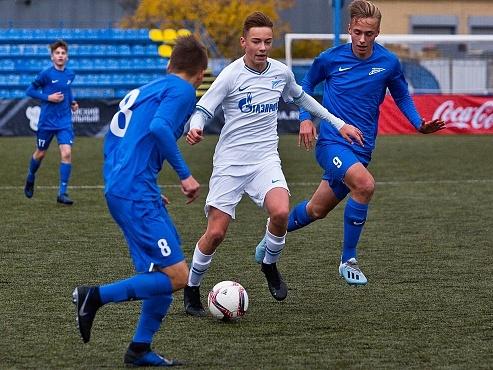 Нападающий «Зенита» U-14 Алексей Барановский забил первый гол за юношескую сборную России